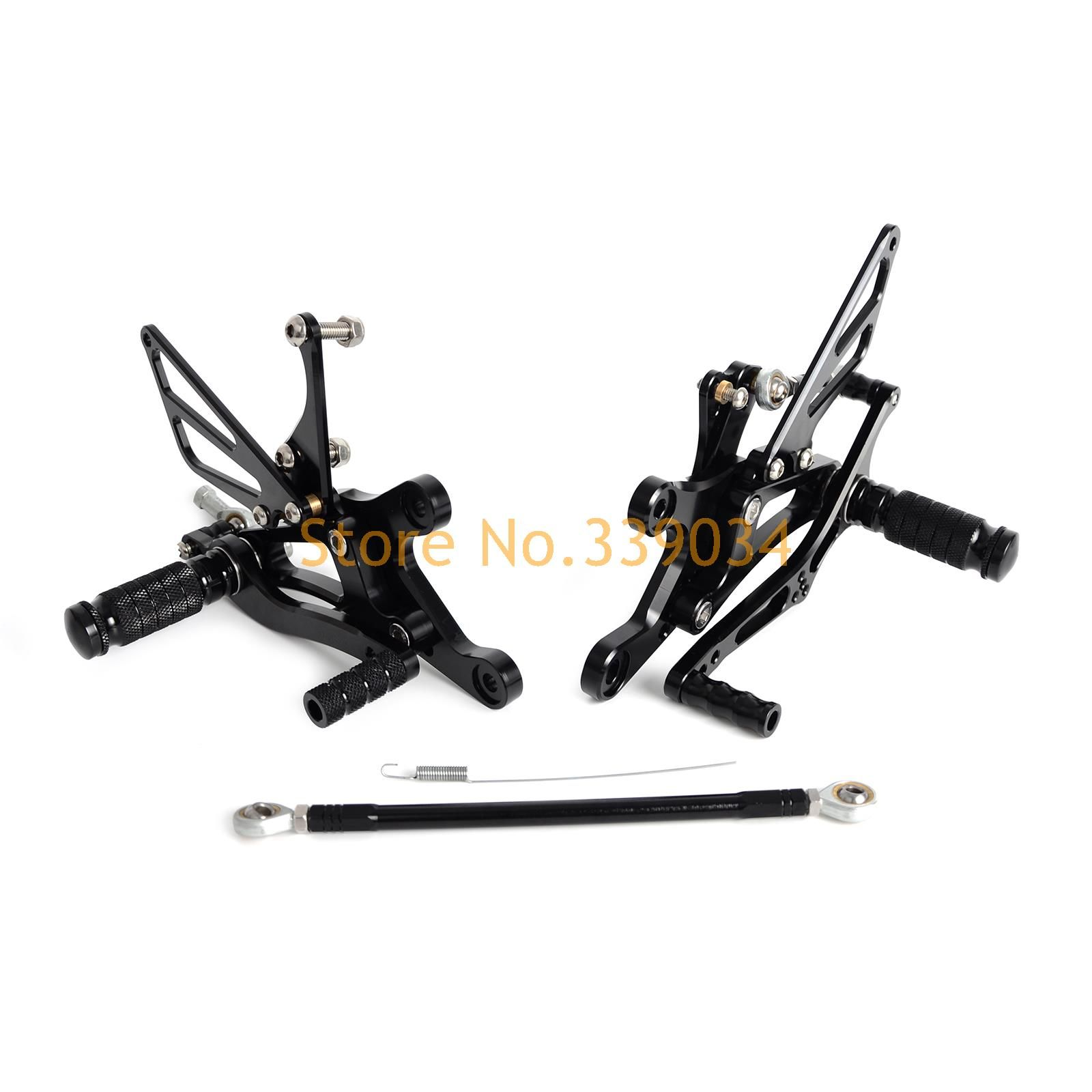 New Black CNC Adjustable Footpegs Rearset Footrests Rear