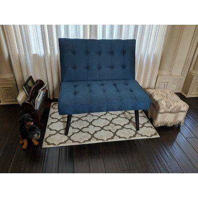Ebern Designs Smyrna Futon Chair Color Dark Turquoise