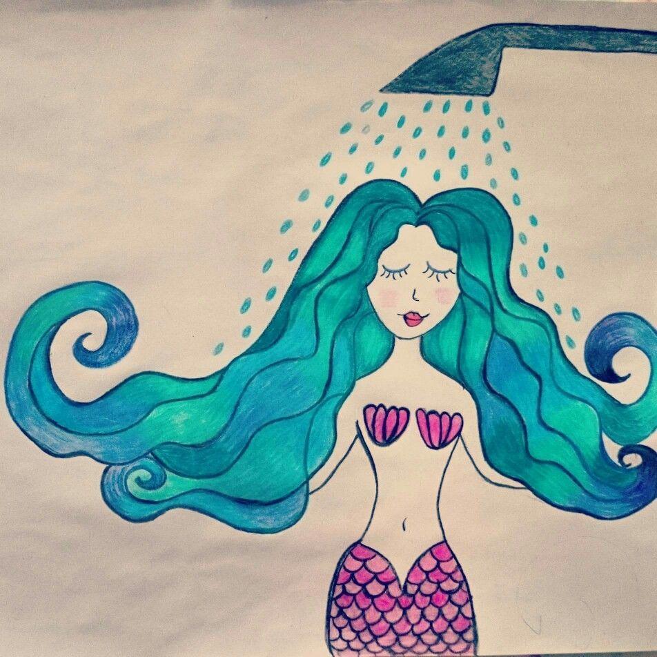 Sereia de chuveiro. #sereia #mermaid #urbanmermaid