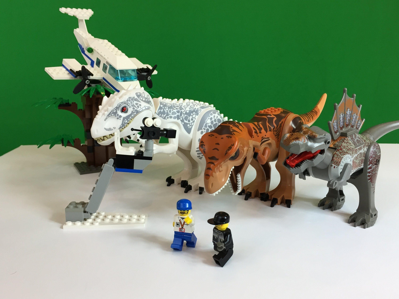 LEGO Studios 1371 Jurassic Park 3 Spinosaurus Attack Dinosaurs ...