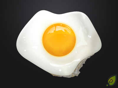 well rendered sunny side up