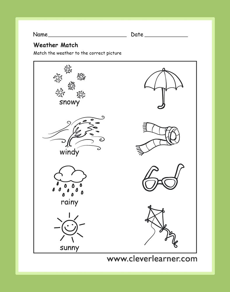 The Weather Activity Worksheets For Preschool Children