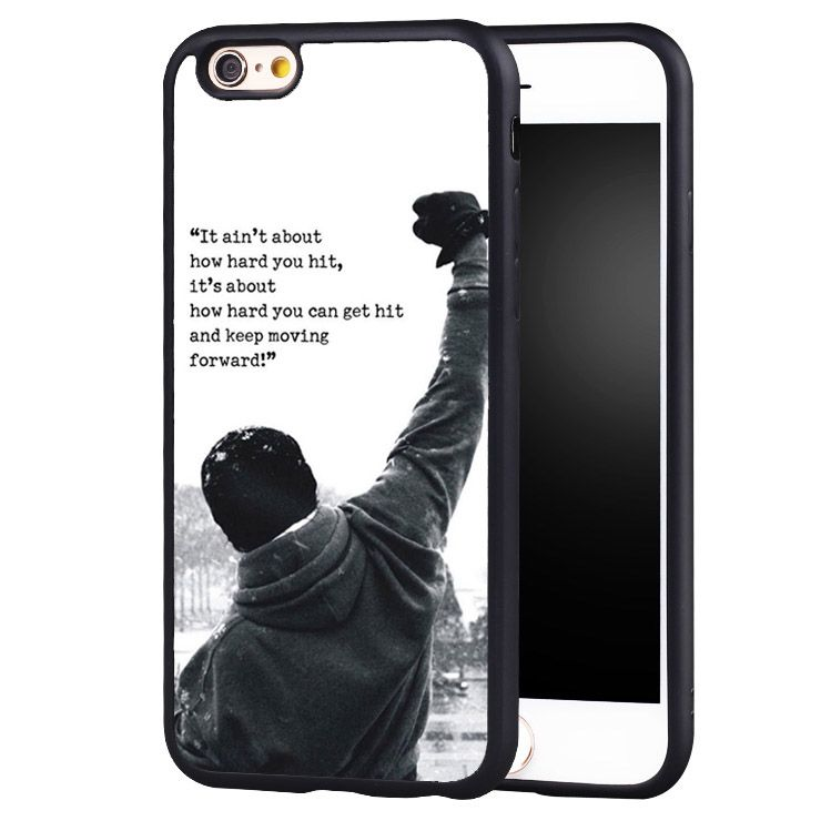 b969f10ad1d ... Balboa Movie Quote Motivation Boxing Soft TPU Mobile Phone Cases For iPhone  6 Plus SE 5 4 Back Shell Cover. For iPhone 7 7Plus 6 6S 6Plus 5 5S SE 8 ...