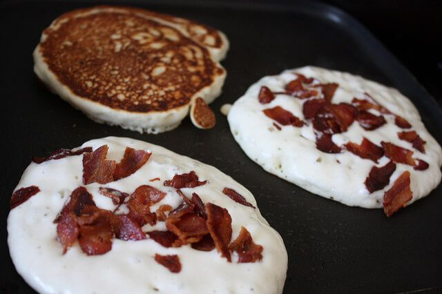 Gluten Free Buttermilk Pancakes with Bacon - Don't Mess with Mama
