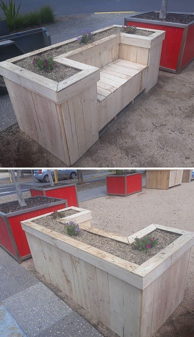 Outdoor Pallet Planter Pallets