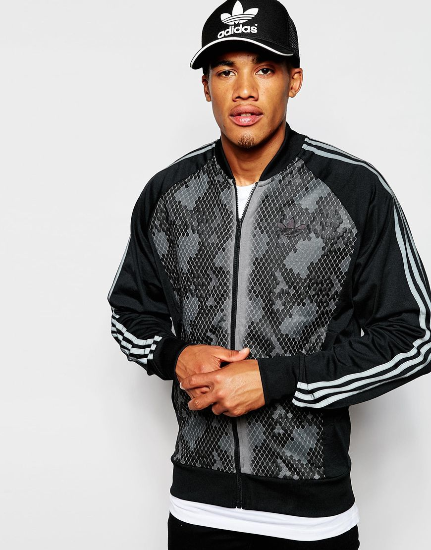 adidas OrigInals Track Jacket With Snake Panel