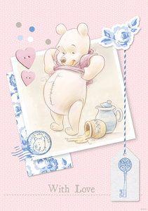 Winnie the Pooh behang pastel With Love | Fabienne slaapkamer ...