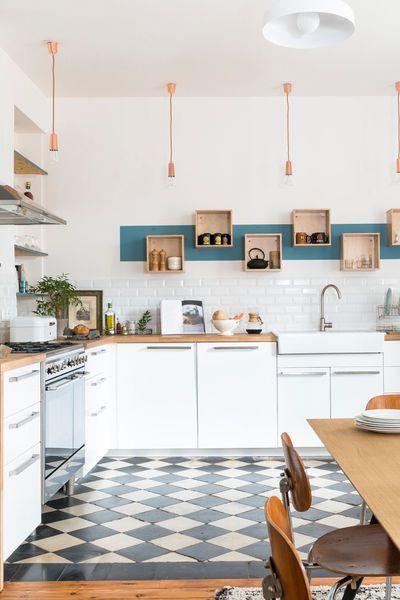 Les carreaux de ciment donnent du cachet aux cuisines Cuisine - Comment Peindre Du Carrelage De Cuisine