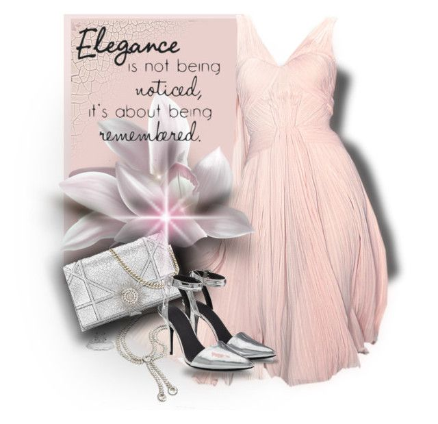 """Pink dress"" by fashionrushs ❤ liked on Polyvore featuring Zac Posen, Balenciaga and Alexander Wang"