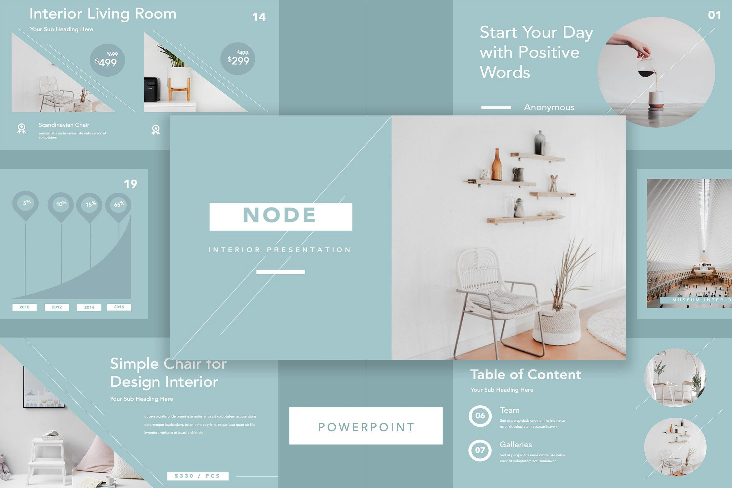 Node Furniture Powerpoint Simple Powerpoint Templates