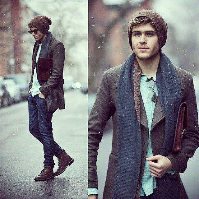 tenues-homme-automne-manteau-chevrons