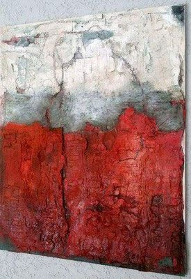 100 80 Das Rote Im Rahmen Abstrakte Malerei Malerei Acrylmalerei Abstrakt