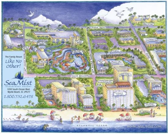Sea Mist Resort Property Map Myrtle Beach Hotels And Resorts Mists Ranch