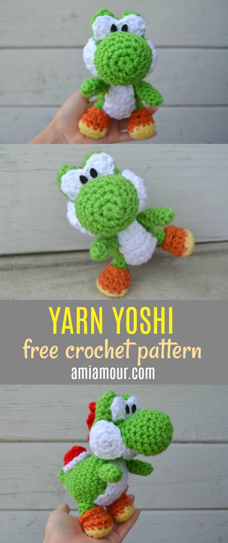 Free Yoshi Amigurumi Pattern | crochet and knit | Pinterest | Häkeln ...