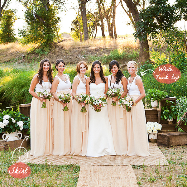 cfc668a0eebf7 bridesmaids dresses bridesmaids in skirts chiffon maxi skirt white ...