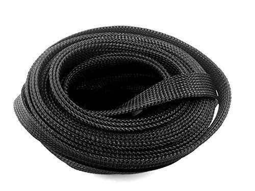 Wang Data Pet Black Braided Cable Sleeve 1 2 Inch X 100ft Black Cables Black Braids Wang