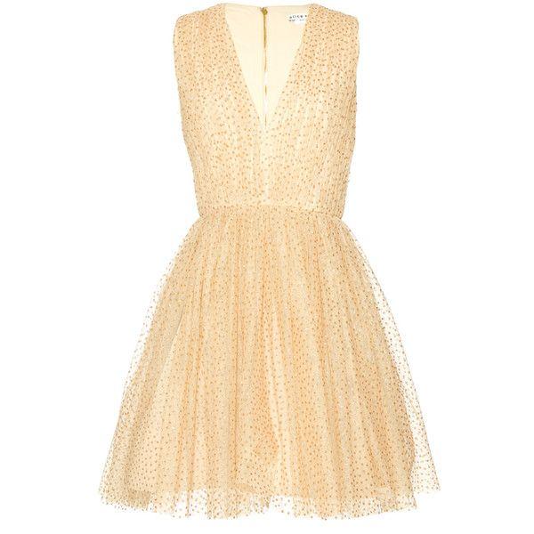 Alice + Olivia Monica Gathered Party Dress ($395) ❤ liked on ...