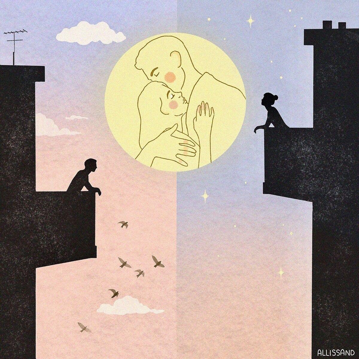 Las Ilustraciones De Alessandra Bruni Expresan Sentimientos Universales Cultura Inquieta Ilustraciones Ilustracion Del Amor Produccion Artistica