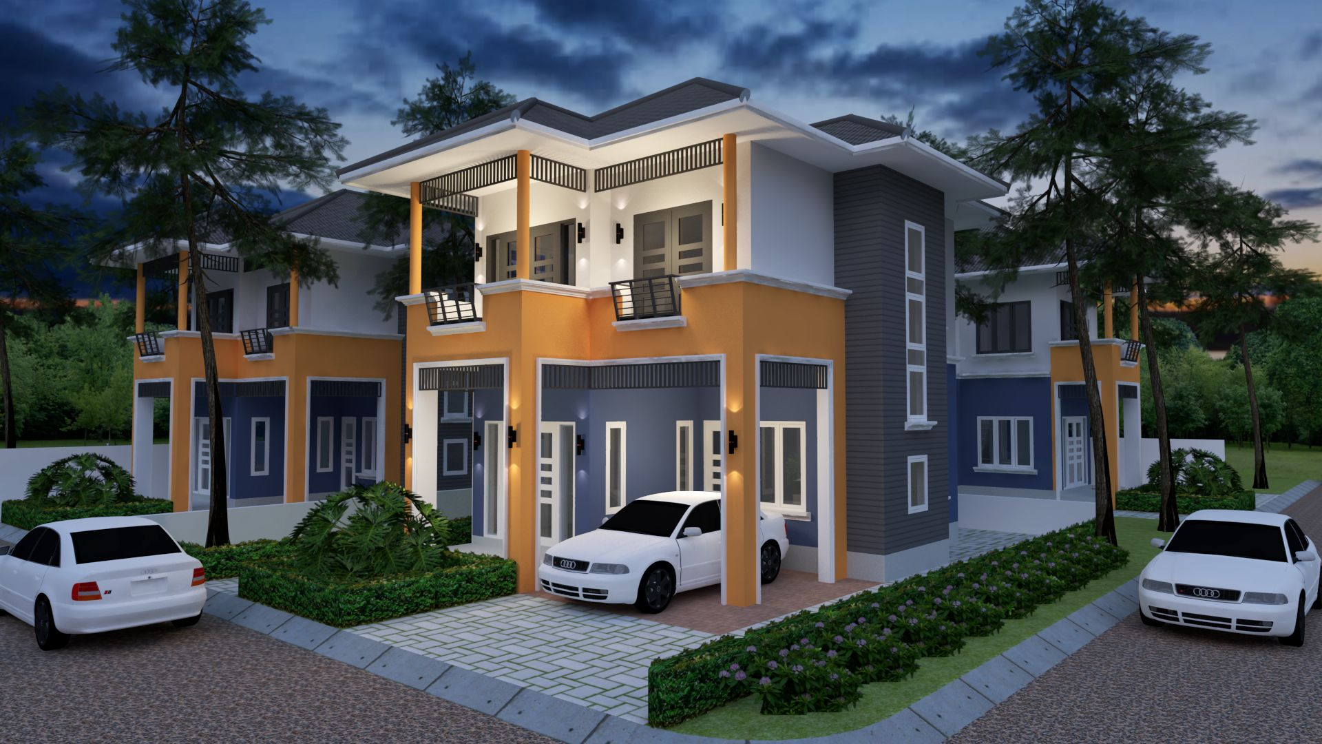 Home Plan 6x9.5m with 3 Bedrooms | Simple house design, House ...
