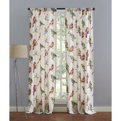 Richloom Home Fashions Birdsong Single Curtain Panel