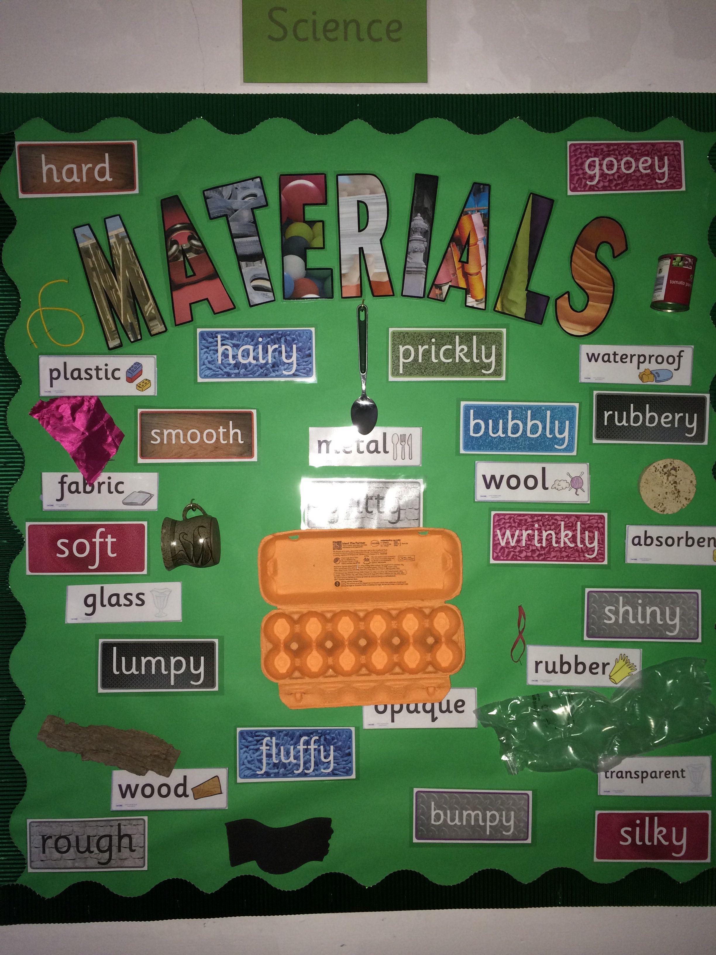 Year 2 Materials Display With Images