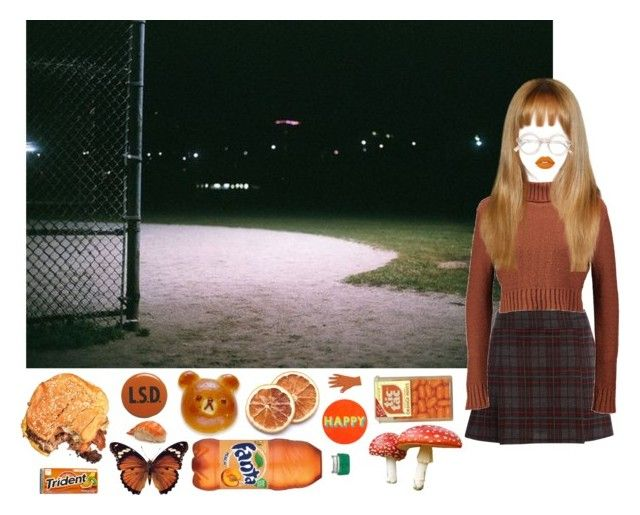 """""""Night Walks"""" by officialbabygirl ❤ liked on Polyvore featuring Therapy, Boohoo, Lisa Perry, Lime Crime and vintage"""