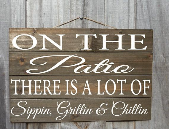 On The Patio Back Porch Sign Porch Sign Patio Sign Wood