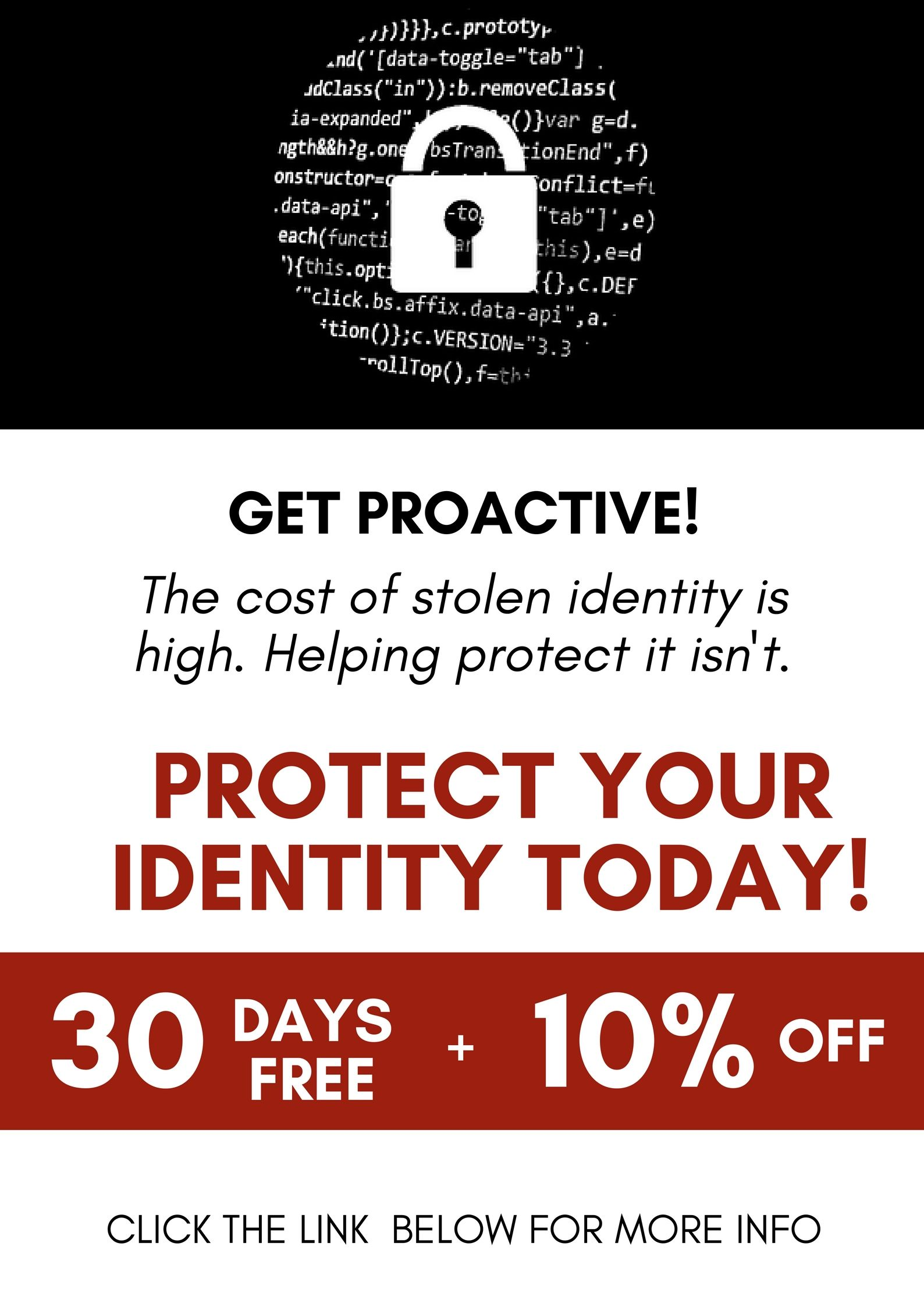 Get Proactive The Cost Of Stolen Identity Is High Helping Protect It Isn T Protect Your Identity Today Sponsored Posts Back To School Activities Best Blogs