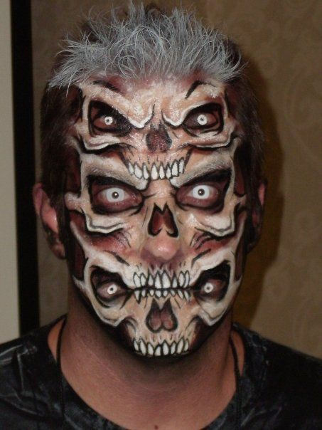 cool halloween makeup skull face makeupskull face paintskeleton - Skeleton Face Paint For Halloween