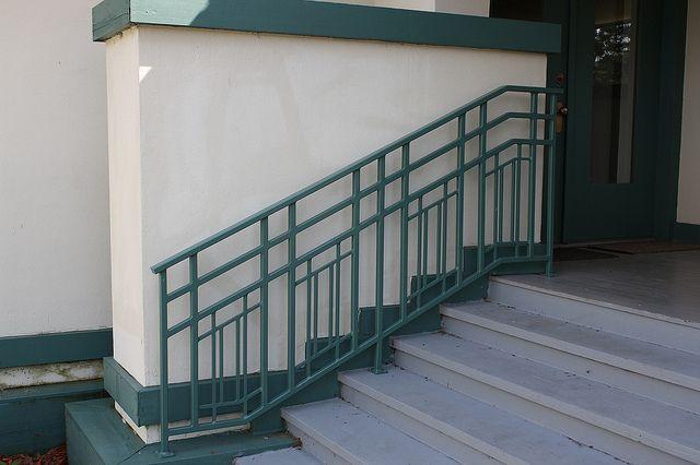 2381 Railing Frank Lloyd Wright Style Exterior Stair Railing   Frank Lloyd Wright Stairs   Basement   Dorm   Design   Obras   Floor Plan