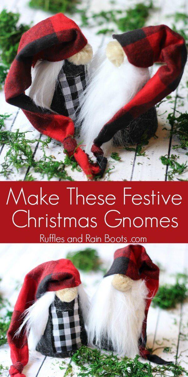 Christmas Gnomes Pinterest.Diy Christmas Gnomes Adorable Mr And Mrs Gnome Crafts