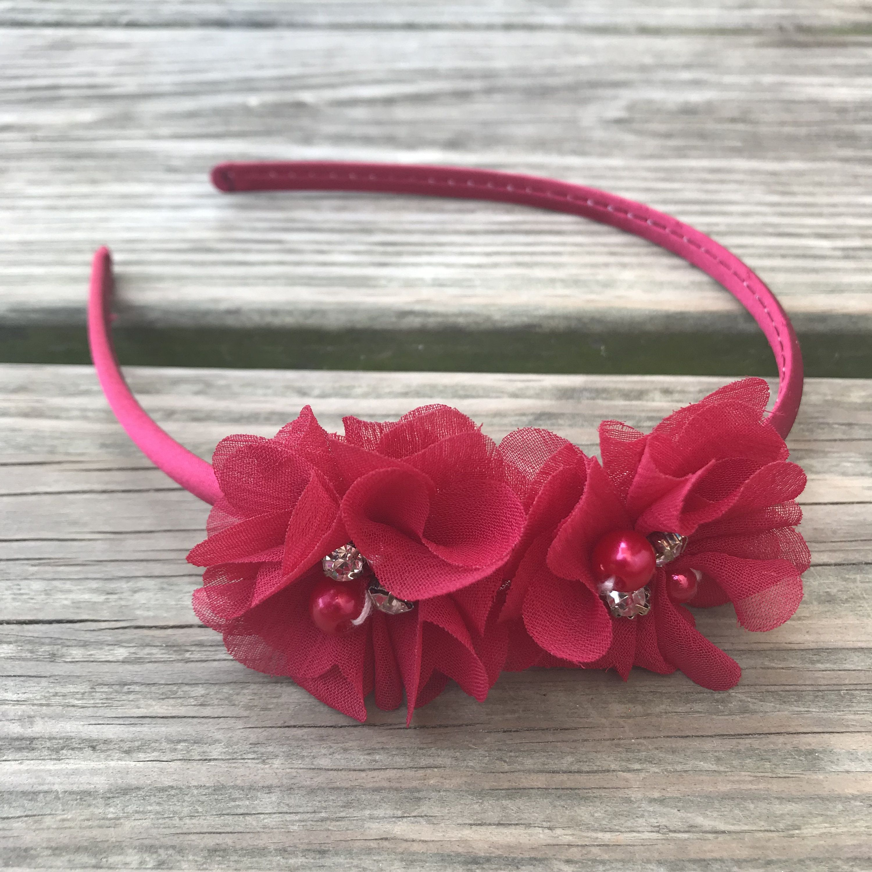 Red Flower Girl Headband - Red Wedding Headband - Red Headband - Toddler  Headband - Christmas headband - Hard headband - Hard band - Red Bow by ... d42670b7ed5