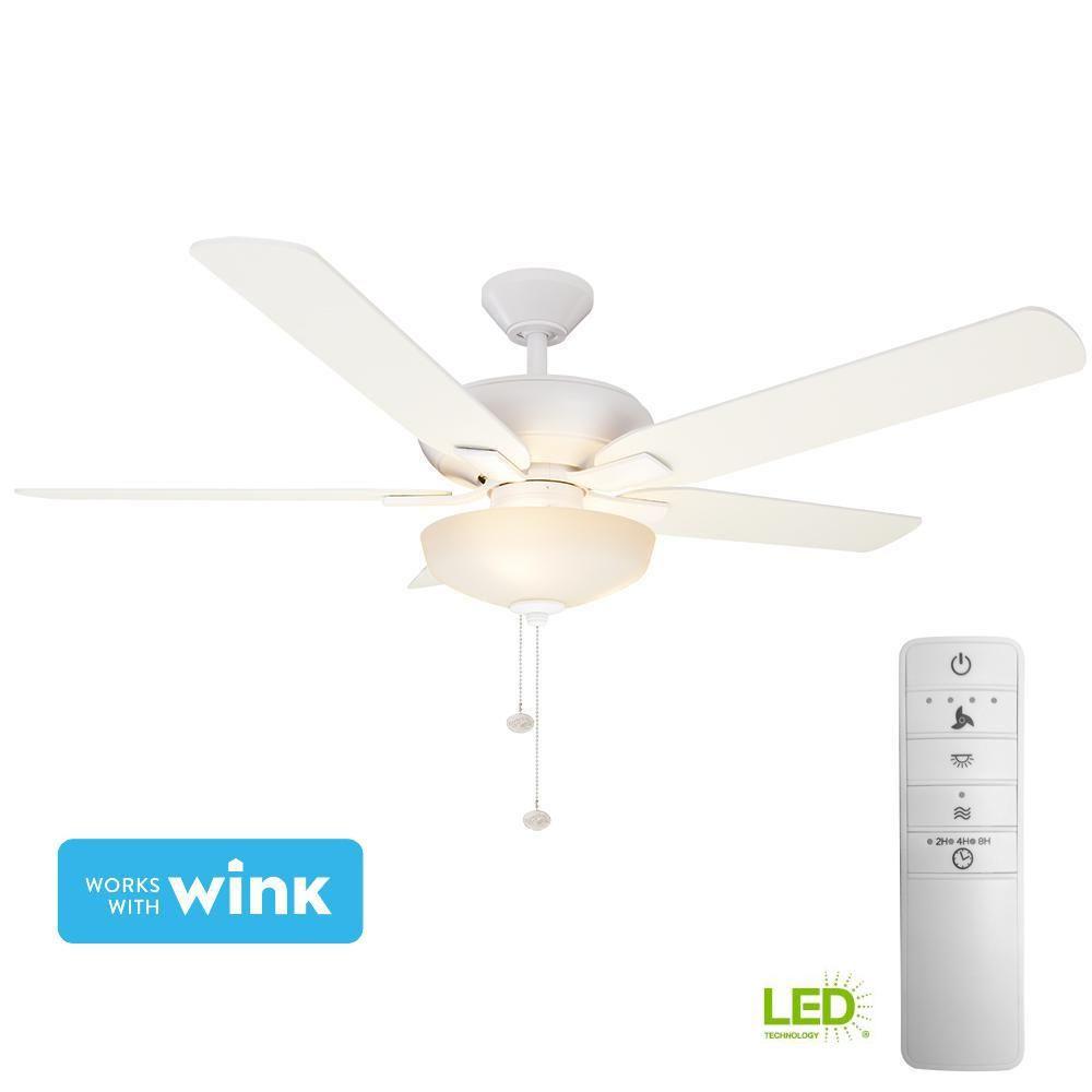 "Hampton Bay Holly Springs 52/"" LED Oil-Rubbed Bronze Ceiling Fan w//Light Kit"