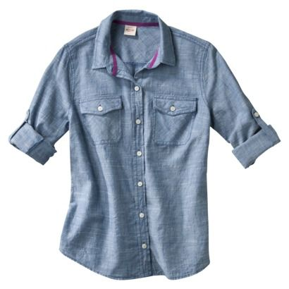 I think I found one I like and in my (meager) budget // Mossimo Supply Co. Juniors Long Sleeve Shirt - Chambray.