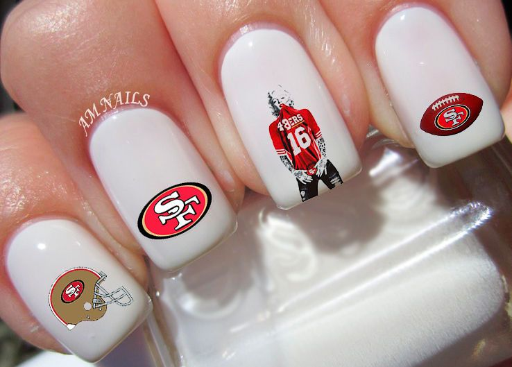 San Francisco 49Ers Nail Art Stickers Transfers Decals Set Of 37 ...