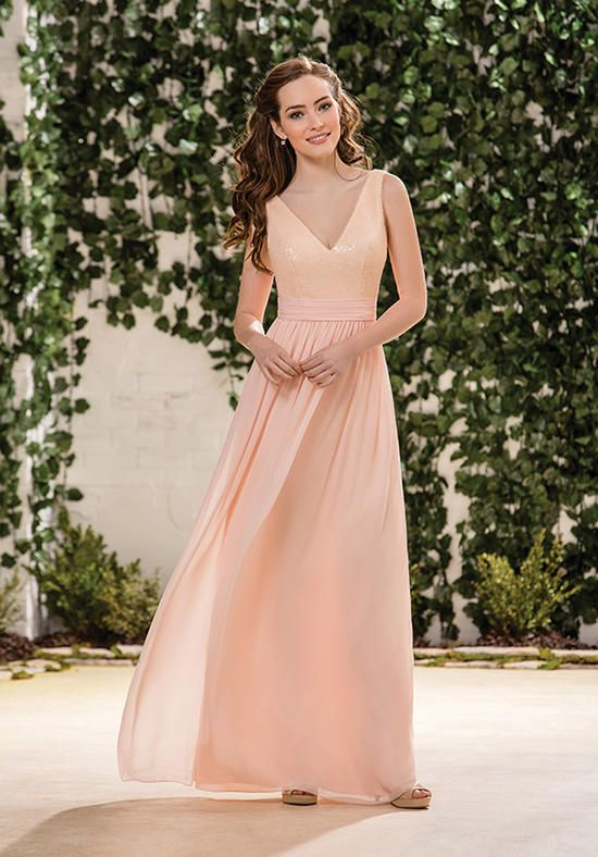 7c71637024b Sequin and chiffon sparkly bridesmaid dress