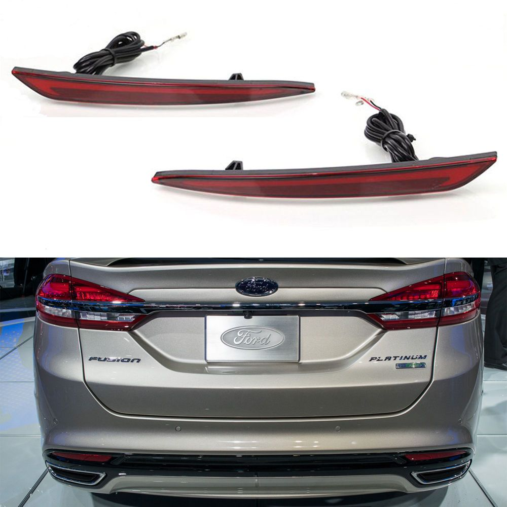 Led rear bumper reflector lamp tail light fit for ford mondeo 2014 2016 https