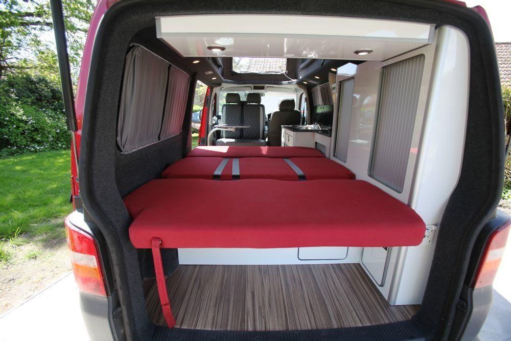 Evo3 Vw T5 Conversion Triple Seat Rib Bed 130cm Wide