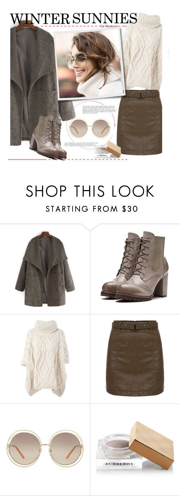 """""""Winter Sunnies"""" by beebeely-look ❤ liked on Polyvore featuring Woolrich, Chloé, Cullen, Burberry and wintersunnies"""