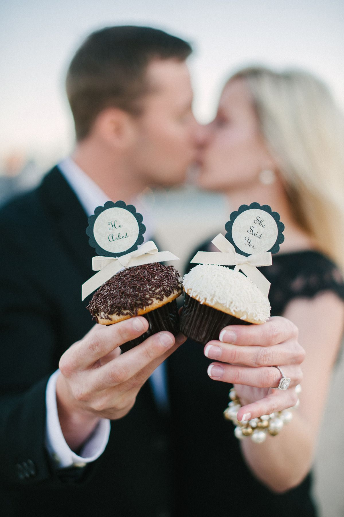 #cupcakes  Photography: Britta Marie Photography - brittamariephotography.com  Read More: http://www.stylemepretty.com/midwest-weddings/2014/01/06/classic-chicago-engagement/