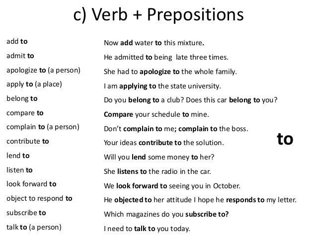 Forum Learn English Common Collocations Verb Preposition