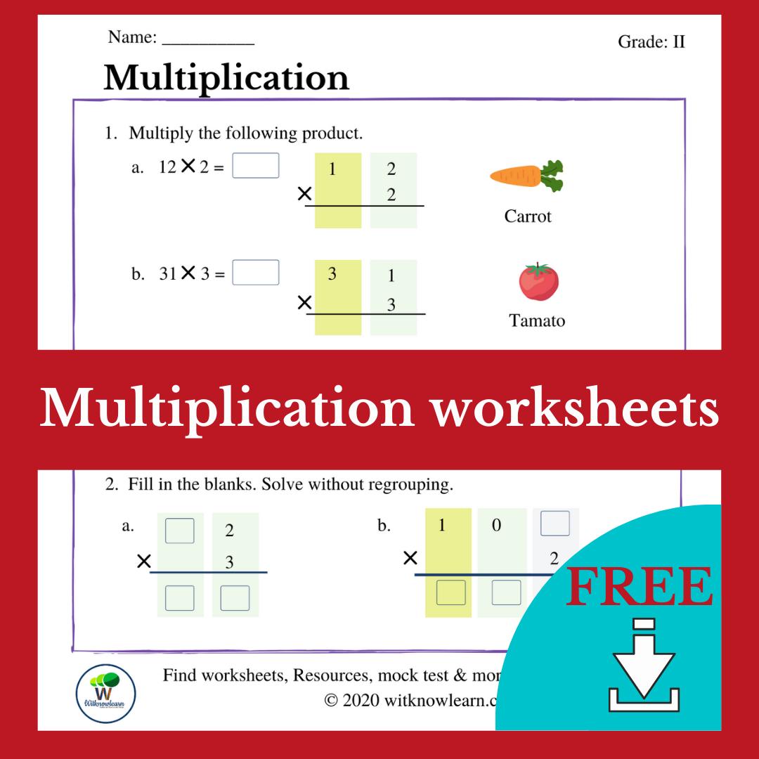 Multiplication Worksheet Grade 2
