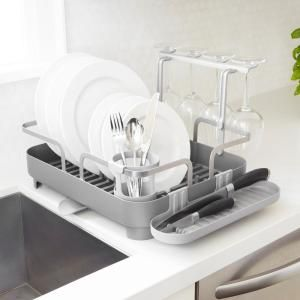 Best Simplehuman Compact Steel Frame Stainless Steel Dish Rack 400 x 300