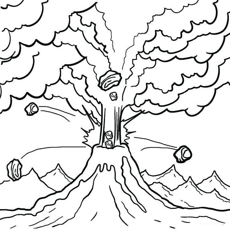 Volcano Coloring Pages Pdf Coloring Pages Coloring Pages For Kids Printable Coloring Pages