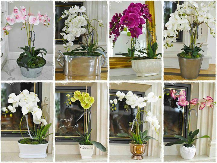Orchidee W Doniczkach Sztuczne Kwiaty Do Zludzenia Przypominajace Zywe Zapraszamy Na Www Tendom Pl Glass Vase Vase Plants