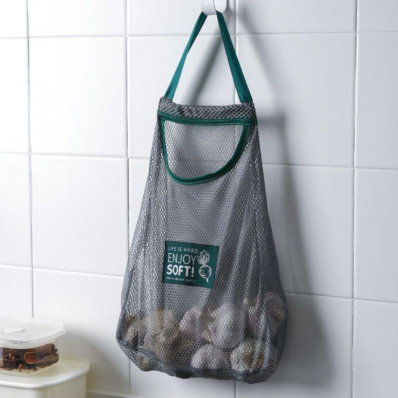 1PCS Fashion Women Net Tote Shopping Bag Unisex Reusable Eco Supermarket Carrier Bag Folding Recyle