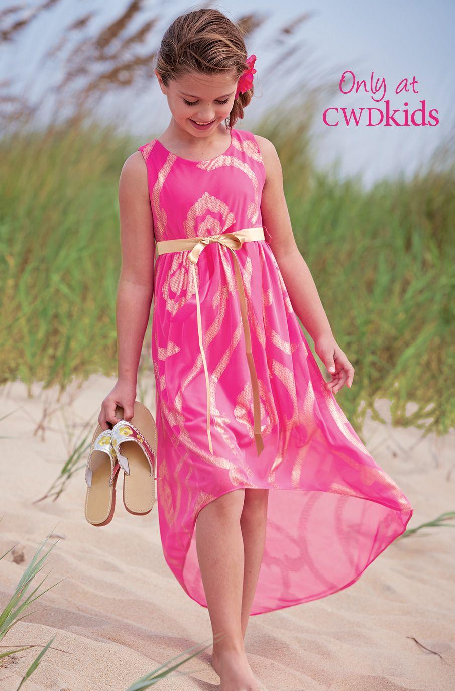 From cwdkids metallic swirls highlow dress fashion kids