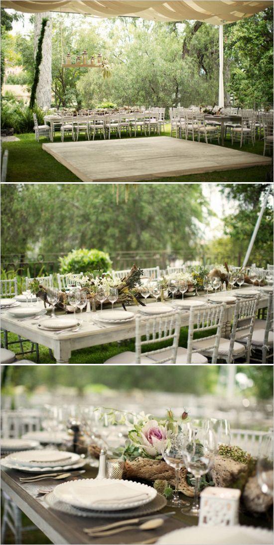 Elegant Heirloom Estate Wedding in Mexico | Backyard tent ...