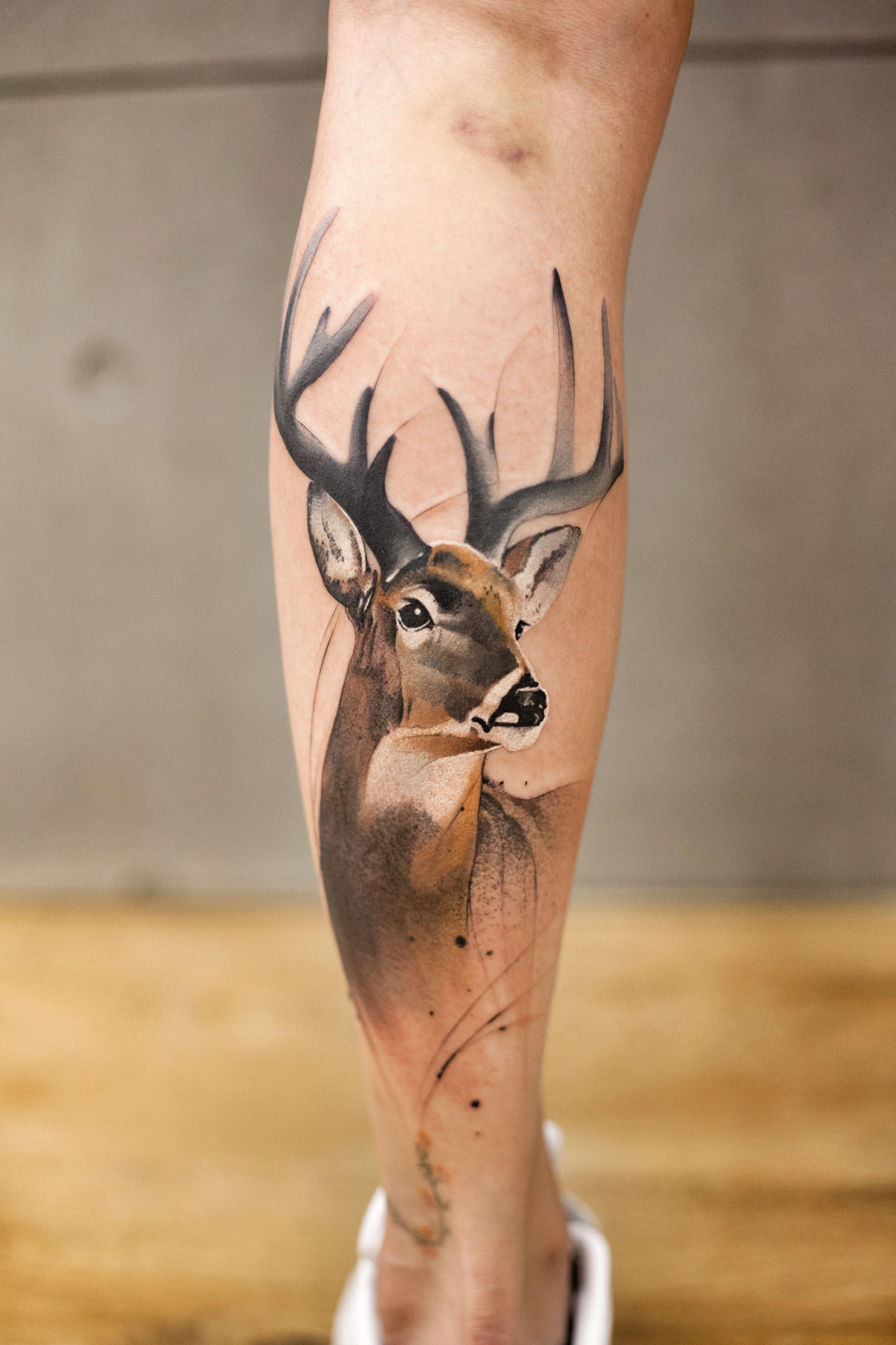 Easy Hunting Tattoos : hunting, tattoos, Tattoos, #chinese, #beijjng, Instagram:chenjie.newtattoo, #deertattoo, Hunting, Tattoos,, Tattoo,, Tattoo