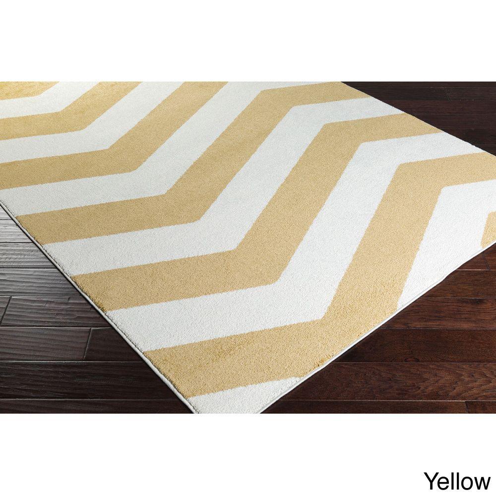 "Meticulously Woven Modern Geometric Area Rug (9'3"" x 12'6"") (Yellow - (9'3"" x 12'6"")), Size 9'3 x 12'6"